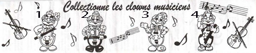 Jacquot / Collectionne les clowns musiciens